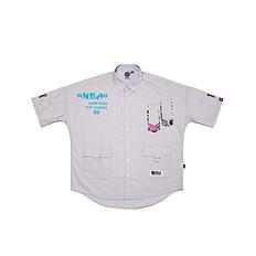 HEA原创设计中国风醒狮元素男女同款休闲短袖衬衫