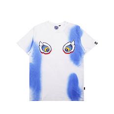 HEA原创设计醒狮元素扎染闪电图案男女同款短袖T恤