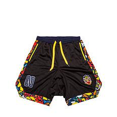 原创设计醒狮元素纯色迷彩休闲短裤