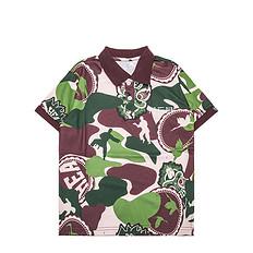 HEA原创设计醒狮元素满版迷彩男女童同款短袖Polo