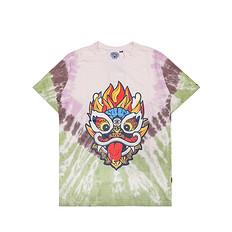 HEA本土原创潮牌醒狮元素狮子头扎染男女同款休闲短袖T恤