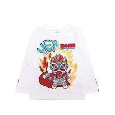HEA【童装】原创设计醒狮元素狮子头印花男女童同款长袖T恤