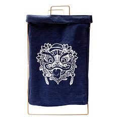 HEA原创设计中国风醒狮元素牛仔布折叠收纳筐