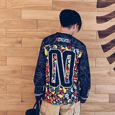 HEA【秋】潮牌原创中国风醒狮元素印花长袖T恤