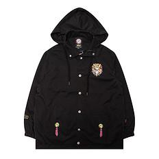 HEA【秋】潮牌原创设计中国风醒狮元素纯色防风连帽外套