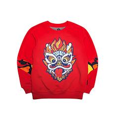 HEA【童装】潮牌原创中国风醒狮元素印花童装卫衣