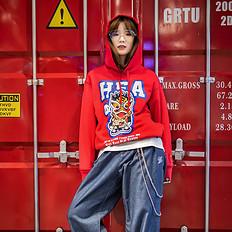 HEA【冬】潮牌原创中国风醒狮元素男女同款卫衣