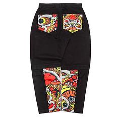 HEA潮牌原创中国传统醒狮元素简约休闲拼接裤