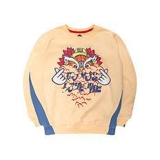HEA【冬】潮牌原创狮子头比心印花男女童同款长袖卫衣