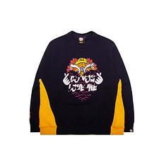 HEA【冬】潮牌原创中国传统醒狮元素比心印花卫衣
