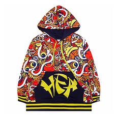 HEA【童装】潮牌原创中国传统醒狮元素印花童装卫衣