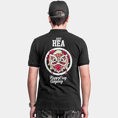 HEA【爆】醒狮印花POLO衫