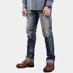 HE75 DENIM水洗直筒 赤耳丹宁牛仔裤