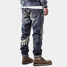HE75 DENIM飞羽做旧赤耳丹宁牛仔裤